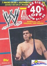 2012 Topps WWE HERITAGE EXCLUSIVE HUGE Factory Sealed Blaster Box-WWE RELIC !