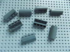 Lego 6081 Dark Bluish Gray Brick, Modified 2x4x1 1/3 w Curved Top x8 10227