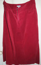 Per Una  Long Scarlet Red Needle Cord Skirt Size 14l side pockets front zip