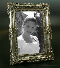 Jugendstil Bilderrahmen Fotorahmen 13x18 Rahmen Silber Holz Stil Nostalgie Antik