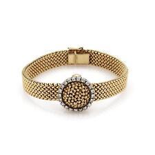 Vintage Tifany Diamond 14k Yellow Gold Hidden Ladies Wrist Watch