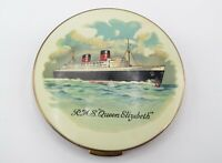 Stratton Vintage Queen Elizabeth Ship Make-Up Face Powder Compact