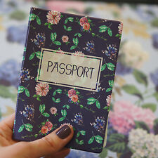 Passport Holder GARDEN, vinyl cover Document ID Travel case protector skin