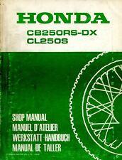 Honda CB250RS-DX & CL250S 1982 Shop Manual