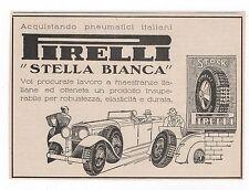 Pubblicità 1930 PNEUMATICI AUTO STELLA BIANCA PIRELLI advert werbung publicitè