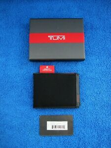 Tumi Mens Alpha SLG Black RFID Double Billfold Wallet w/Tags & Box - New !