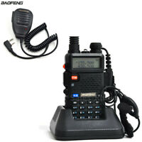 BaoFeng UV-5R Dual Band VHF/UHF Walkie Talkie Two-Way Radios + uv-5r speaker Mic