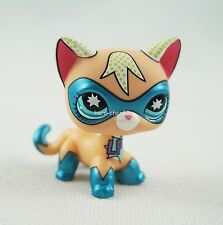 Littlest Pet Shop LPS Shorthair COMIC CON Cat Masked Super Hero Blue eyes Toys