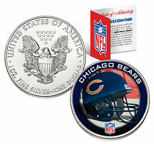 CHICAGO BEARS 1 Oz .999 Fine Silver American Eagle $1 US Coin NFL LICENSED