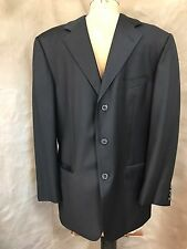 ERMENEGILDO ZEGNA Black Notch Collar Tuxedo Dinner Jacket 3-Button 100% Wool 50R