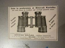 advertising pubblicita' BINOCOLI  KORISTKA  -- 1928