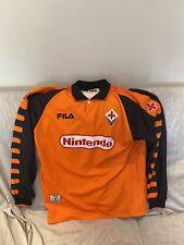 Splendida maglia da calcio da portiere Fiorentina Nintendo Fila numero 1 Tg XL
