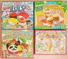 Kracie 4 Kinds of Popin Cookin & Happy Kitchen Sushi Bento Hamburger Ice Cream