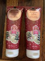 (2) Bath & Body Works CHRISTMAS COOKIES Ultra Shea Body Cream 8oz Each FAST SHIP