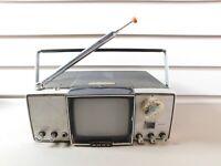 Vintage Sony 4-203UW Micro-TV Transistor Television Serial # 44550 Japan As-Is