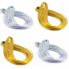 100M Metallic Silver Gold Purl Wire Coil Bullion Cord Craft Jewelry 1.0mm DIY