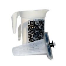 Tupperware Infuser Pitcher Jug 2 Litre Push Button Seal Deco Black Sheer