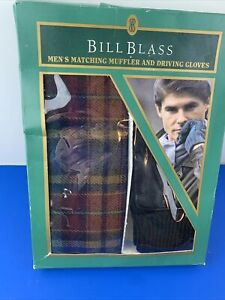 Vintage Bill Blass ~ Men's ~ Matching Muffler and Driving Gloves New in Box
