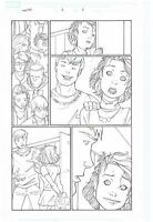 THE WASP ORIGINAL ART PAGE HER-OES #2 PAGE #5 JANET VAN DYNE CRAIG ROUSSEAU