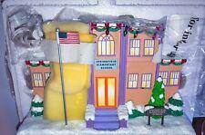 The Simpsons Hawthorne Christmas Village Springfield Elementary School Xmas COA