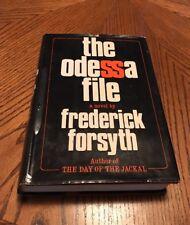 RARE! SIGNED!The Odessa File-Frederick Forsyth-HBDJ BC 1972(Read Description)