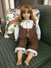 """Annette Himstedt 26"""" Big Eyed Bastian doll - Barefoot - Rarer German Version"""