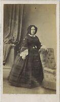 Maujean Fotografia Primif a Parigi Donna CDV Vintage Albumina Ca 1860