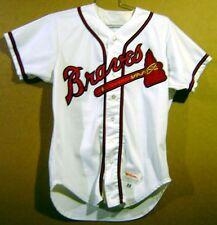 5977fe422 ATLANTA BRAVES PAUL ASSENMACHER White  30 GAME WORN Baseball Size 44 MLB  JERSEY