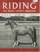 Lot of 1964-65 Issues RIDING Equestrian, British Magazine