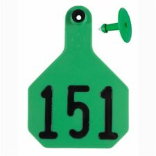 Y-Tex Large 4-Star Tags Cattle Fade Tear Resistent #151-175 Green 25ct pkg