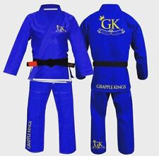 Grapple KINGS BJJ GI BLUE Tatami Koral MMA fight judo juijitsu FREE Delivery A3