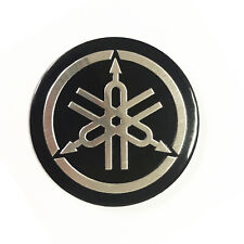 Adesivi YAMAHA in Acciaio Inox Stemma Logo Emblem Decal 3D in Rilievo Auto Moto