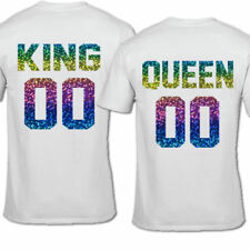 Queen Cotton Blend Crew Neck T-Shirts for Women