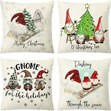 Christmas Gnome Pillow Covers 18 x 18 Set of 4, Christmasecorations Swedish D