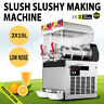 30L 2 Tanks Frozen Drink Slush Slushy Making Machine Smoothie Ice Maker