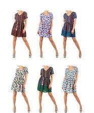 Markenlose Mini-Damenkleider mit V-Ausschnitt für die Freizeit