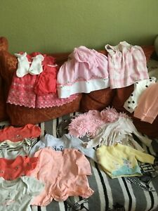 reborn doll or baby girl clothes 0-3 months bundle some new some used