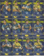 2012 NRL Dynasty Silver Parallel Full Team Set Parramatta Eels 12 cards