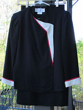 Vintage 1980 Black, Red & Cream Kardessa Suit/Dress Size 9-10