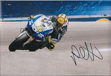 VALENTINO ROSSI Autograph SIGNED MotoGP YAMAHA 12x8 Photo AFTAL COA THE DOCTOR