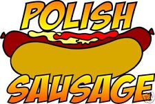 Polish Sausage Hot Dog Concession Restaurant Food Truck Vinyl Decal 14""