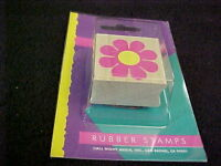 Flower Power Wood Mounted Rubber Stamp All Night Media