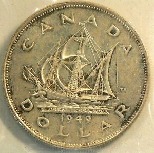 1949 Canada Dollar $1 ICCS MS 66 #8317