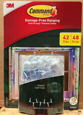 3M Command Damage-Free Outdoor Holiday Light Clips Package 42 Clips/48 Strips