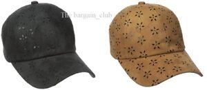 David & Young New York Cap Women's Hats Eyelet Suede Baseball Cap