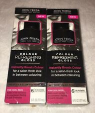 (2) John Frieda Colour Refreshing Gloss For Cool Reds 6 oz - 6 treatments NEW