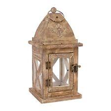 Bougeoirs et photophores de décoration intérieure de la maison antiques en bois pour salon