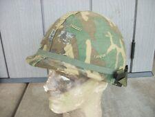 Us M1 Helmet Post-Vietnam Cold War w/ Erdl Cover & 1985 Liner