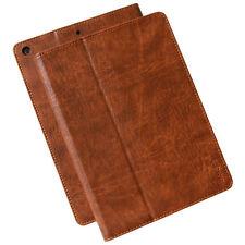 Premium Leder Cover f Apple iPad Mini 1 2 3 Schutzhülle Case Tasche Tablet braun