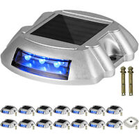 Driveway Lights, Solar Driveway Lights 16-Pack, Dock lights with Switch, in Blue